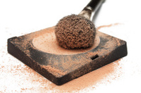 makeup brush with powder