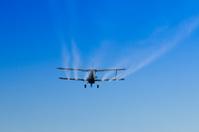 Spraying Biplane