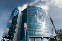 Modern building in Brussels