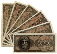 Fanned Out Greek Money