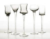 Five glasses in BW