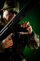 marine sniper loading rifle