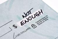 Blank check...not enough