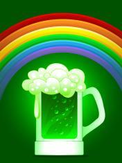 green beer under the rainbow