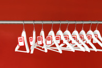 Hangers with sale tags