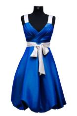 blue female dress