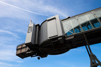 mobile boarding bridge at a passenger terminal