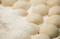 swollen dough with flour