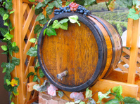vintage ornate decor handmade wooden wine barrel