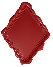Postal red sealing wax.