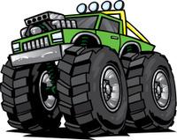 green monster truck