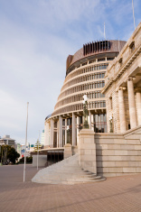Wellington New Zealand Beehive and Parliament House