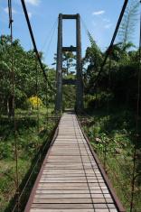 Suspension bridge cross the vale
