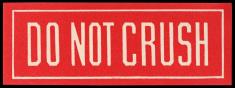 do not crush label