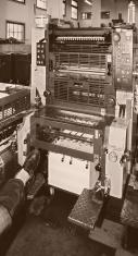 Two-Color Press in Sepia
