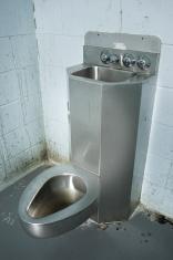 Prison cell toilet