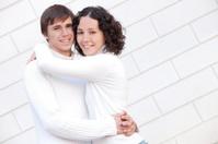 couple embraces