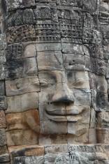 Stone face at Angkor Wat, Cambodia
