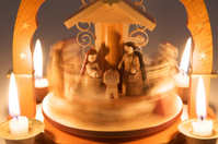 Rotating Nativity Scene
