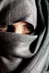 Woman's Worried Eyes