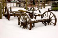 Snowy Farmyard Wagon