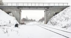 Bridge through the railway