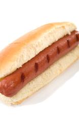 Hot Dog Wiener in a Bun Vertical