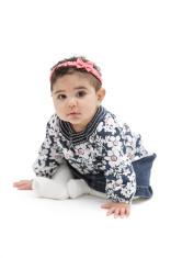 Lina sitting on white background 1.