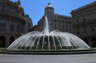Fountain on Piazza De Ferrari, Genova, Italy