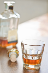 Bottle of Brandy and A Glass Smoking Pipe Stock Photos - FreeImages com