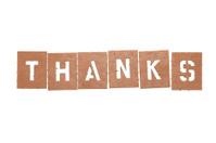 Thanks Stencil Word