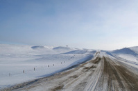 Winter Rural Iowa Gravel Road
