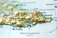 Guantanamo on map