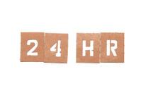 23Hr stencil word