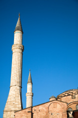 Minaret of the Aya Sofia in Istanbul