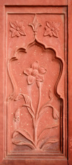 Wall detail, Red Fort in Old Delhi, India