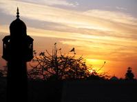 Minaret at twilight