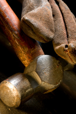 Metal working hammer