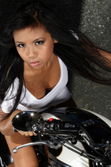 Asian Biker Girl