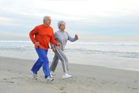 Jogging Senior Couple