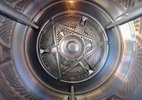 Inside A Front Loader Cloths Dryer
