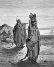 Abraham expels Hagar and Ishmael