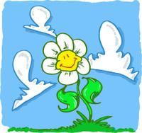 Flor sonriente en la pradera.