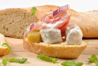 some fresh organic herring salad on bread