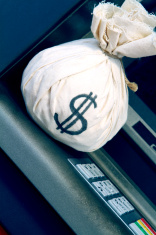 Money Bag on ATM