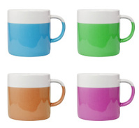 Coffee Cup with 4 Different Colors