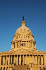 US Congress basking in  Sunrise, Washington DC