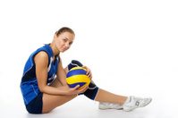 young female volleyball player
