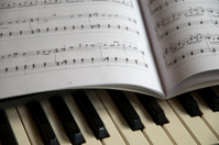 Piano and music sheet