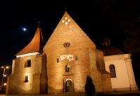 monastery church at night